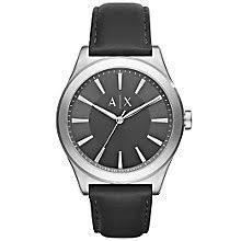 armani exchange watches uk men s ladies h samuel armani exchange men s black leather strap watch product number 5218500