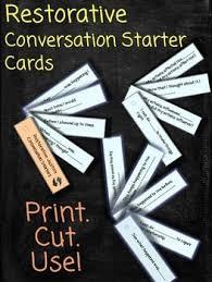 best restorative justice ideas school restorative justice conversation starters lanyard cards