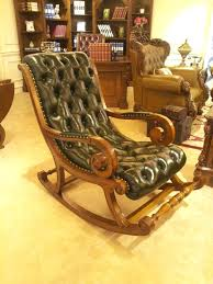 antique leather rocking chair antique rocking chair with leather seat