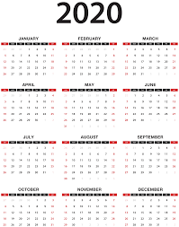 Calendars 2020 Free 2020 Calendar Transparent Png Clip Art Gallery