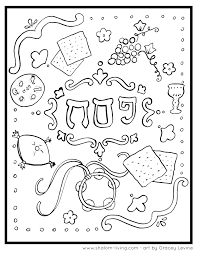 1-passover-coloring-page