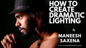 dramatic lighting using one strobe light in the studio behind the scenes photo shoot hindi