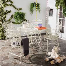 Details about patio dining table chairs outdoor rustic vintage dining set iron furniture new