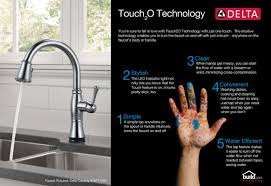 Touch Technology Kitchen Faucet Faucetcom 19922tsssddst In Brilliance Stainless By Delta