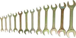 <b>Набор</b> рожковых <b>ключей Tundra Basic</b>, желтый цинк, 8-32 мм ...