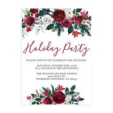 Christmas Tea Party Invitations Amazon Com Holiday Christmas Party Invitations With White