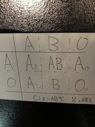 O 型 から ab 型 は 生まれ ない