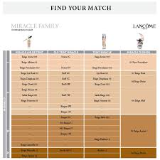 Glo Minerals Colour Chart 11 Lancome Foundation Color Chart Base Teint Miracle