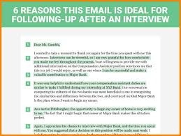 6 Follow Up Email After Phone Interview Examples Artist Resumes