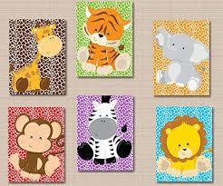 baby zoo animals nursery. Simple Nursery Safari Nursery DcorJungle Animals Wall ArtZoo  Art And Baby Zoo L