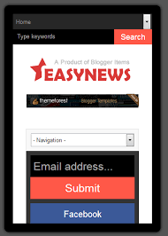 Blogger Mobile Template Easy News Free Responsive Magazine Blogger Template