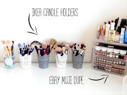 makeup brush storage acrylic makeup storage muji dupes