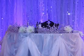 Bride Groom Table Decoration All Things Beautiful A White Christmas Wedding Reception