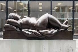 """VADUZ, MAY <b>18</b>: <b>Bronze Sculpture</b> """"Reclining <b>Woman</b>"""" In The ..."""