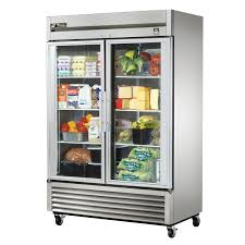 new used restaurant supplies equipment chicago tampa true t 49g ld 54 inch two section reach in refrigerator 2 glass door