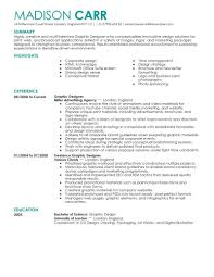 resume for graphic designers best graphic designer resume example livecareer