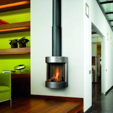 gas fireplace contemporary closed hearth hanging free bell