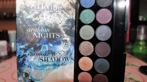 sleek arabian nights smoke shadows palette w swatches