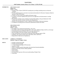 Edi Consultant Resume Samples | Velvet Jobs