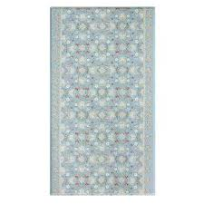 soft modern blue and cream 8 ft x 4 5 ft traditional victoria reversible indoor