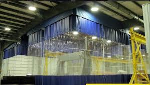pvc blue warehouse divider curtains