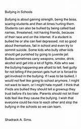 word essay on bullying  200 word essay on bullying