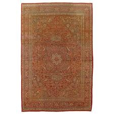 antique tabriz carpet handmade persian rug in fl gold red and beige for