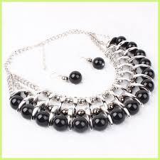 fashion factory latest design elegant pearl necklace set charm jewelry n1006