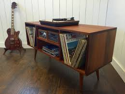 record player media console.  Console Mid Century Modern Stereo Turntable Console Record Player  Table Stand To Media R