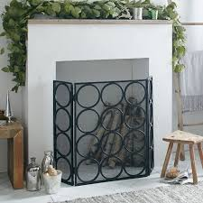 Ideas Decorative And Functional Addition With Fireplace Screen Small Fireplace Screens