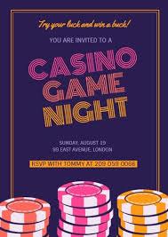 Game Night Invitation Template Online Casino Game Night Invitation Template Fotor Design Maker