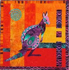 10 best Australian quilts images on Pinterest | Books, Cushions ... & KANDY KANGAROO QUILTING PATTERN, Fun Applique Wall Quilt From BJ Designs NEW Adamdwight.com