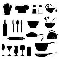 kitchen utensils silhouette vector free. Various Kitchen Utensils In Silhouette Stock Vector - 12305280 Free U