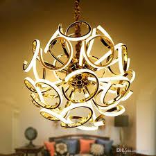 creative spherical chandelier new design modern led chandelier lamp silver hanging light diameter 80cm dinning room living room chandelier chandelier led