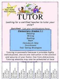 Tutor Flyer Templates Image Result For Free Template For Tutoring Flyer Tutoring