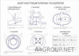 Проектирование АТП Диплом > Платные чертежи Чертежи Автомобили Обзор конструкций камерных расходомеров