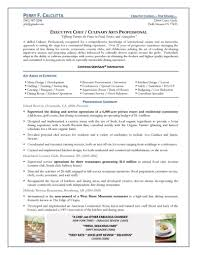 Resume Templates Executive Sous Chef Examples Samples Sample