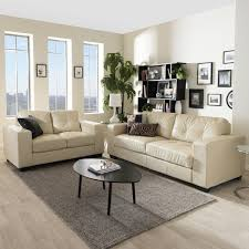 Style Your Living Room With Cream Leather Sofa Darbylanefurniture Simple Leather Couch Living Room Ideas Style