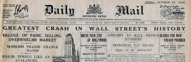 「wall street crash of 1929 summary」の画像検索結果
