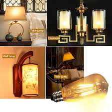 Großhandel E14 Vintage Kerze Led Glühlampe E27 Retro Edison Lampe Licht Globus Kronleuchter Beleuchtung Cob Wohnkultur Energiesparende Von Amosty