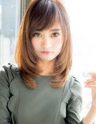 シンプル小顔ミディアムta 233 ヘアカタログ髪型ヘアスタイル