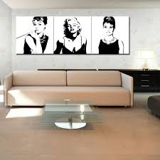 canvas painting marilyn monroe and audrey hepburn painting with wooden framed for modern home wall decoration as gifts by meiledi wall art