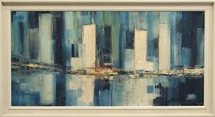 movements themes mid century skyline paintings