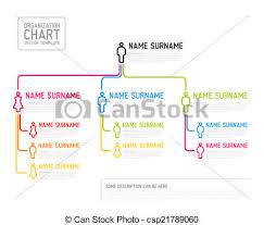 Modern Org Chart Vector Modern Organization Chart Template Made From Thin Lines