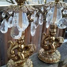 mcm cherub koi fish bronze chandelier candle stick holder
