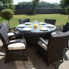 exciting outdoor furniture round table sets decoration ideas and window rattan garden tables