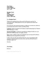 Job Fair Cover Letter 2 Following Up College Career Concept Letters