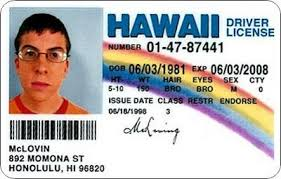 Magnet amp; Superbad Dining License Mclovin Driver's Amazon Refrigerator com Kitchen Hawaii