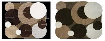 design your own rug irregular shape circles brown beige white