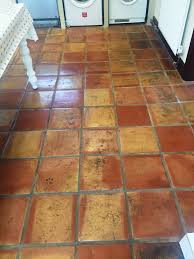 kitchen tile flooring. Plain Tile Cracked Mexican Terracotta Kitchen Tiles Restored And Tile Flooring